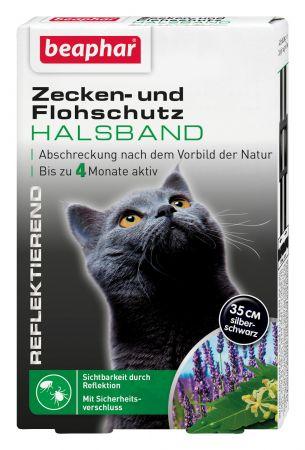 Zecken- & Flohschutz Halsband reflektierend Katze
