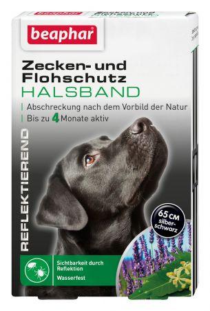 Zecken- & Flohschutz Halsband reflektierend Hund