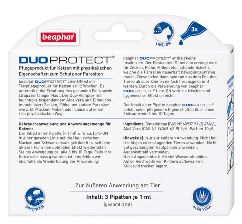 DUOPROTECT® SPOT-ON Katze - Rückseite