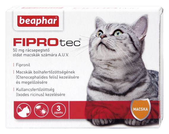 FIPROTEC 50MG 3X HU macskának