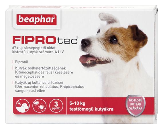 FIPROTEC 67MG 3X HU kistestű kutyáknak