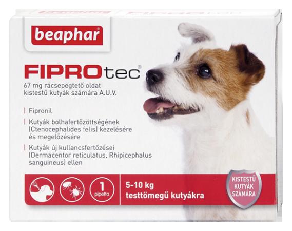 FIPROTEC 67MG 1X HU kistestű kutyáknak