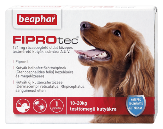 FIPROTEC 134MG 1X HU közepes testű kutyáknak