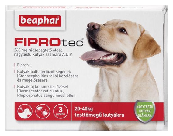 FIPROTEC 268MG 3X HU nagytestű kutyáknak