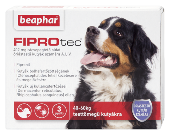 FIPROTEC 402MG 3X HU óriástestű kutyáknak