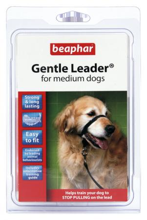 GENTLE LEADER fejhám közepes méretű kutyáknak - fekete