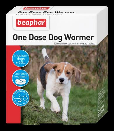 Beaphar One Dose Dog Wormer (6-20kg)
