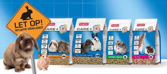 Care+ konijnen- en knaagdierenvoeding is vernieuwd!
