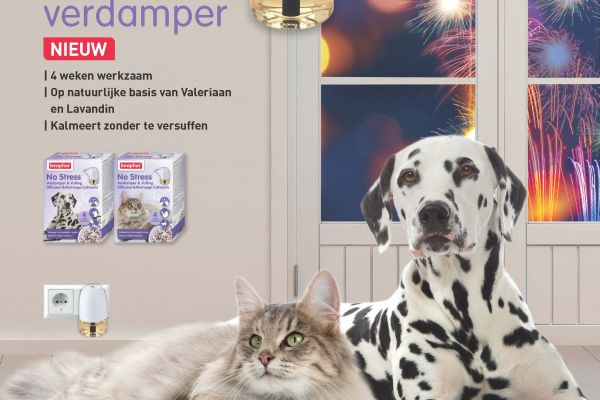 Nieuw: No Stress Verdamper voor hond en kat