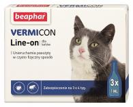 VERMIcon Line-on Cat - krople przeciwko ektopasożytom dla kotów PL