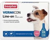 VERMIcon Line-on Dog S - krople przeciwko ektopasożytom dla małych psów <15kg