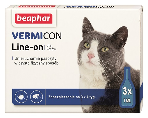 VERMIcon Line-on Cat - krople przeciwko ektopasożytom dla kotów
