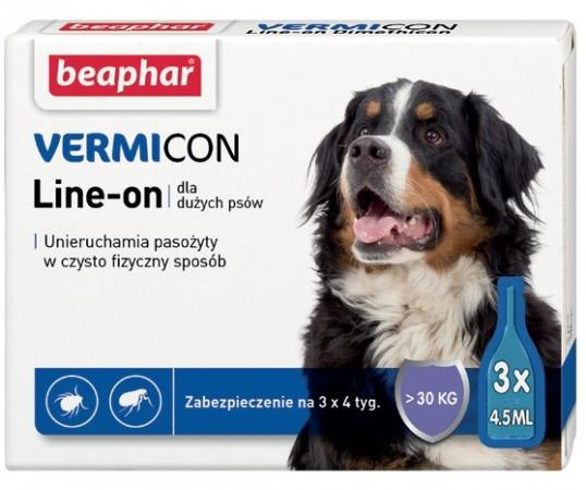 VERMIcon Line-on Dog L - krople przeciwko ektopasożytom dla dużych psów >30kg