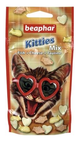 Kitties Mix 32,5g - przysmak z witaminami i minerałami dla kota ryby/ser/tauryna