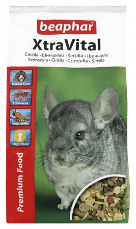 XtraVital Chinchilla Feed - 1kg - Russian/Ukranian/Czech/Latvian/Lithuanian/Slovak/Hungarian/Polish