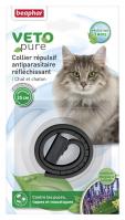 Collar Repelente Gato Reflectante Negro con Extracto de Margosa