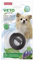Collar Repelente Perro Reflectante Negro con extracto de Margosa