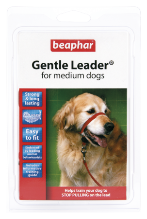 Collar Gentle Leader Perros Medianos Rojo