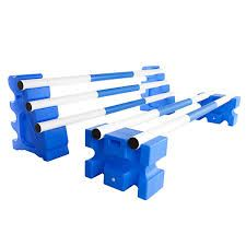 Plastic jump blocks and poles