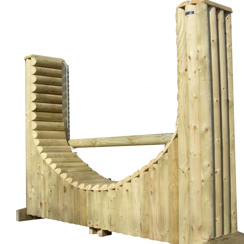 Height Adjustable Horseshoe Log