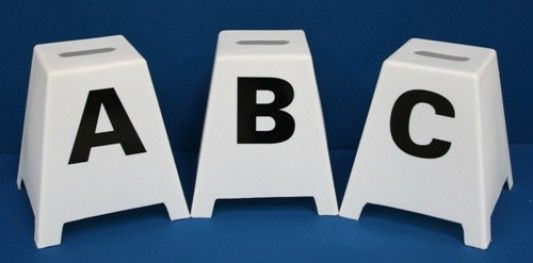 Small Free Standing Dressage Letters