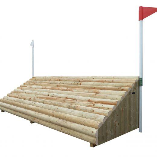 Sloping Log Wall