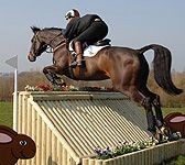Mobile cross country horse event jumps and fences