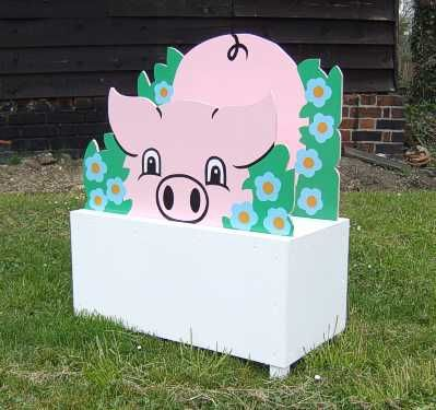 Flower Boxes - Pigs
