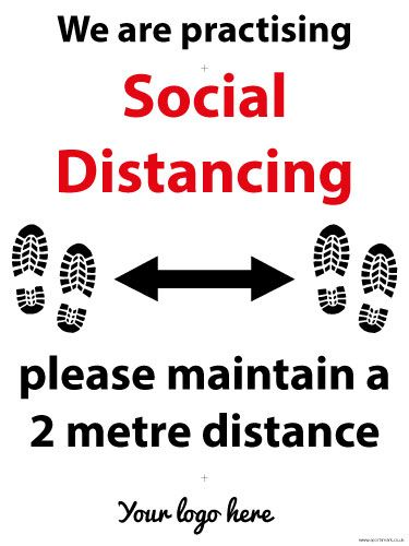 Large Practising Social Distancing sign