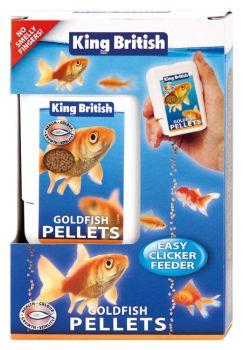 King British Goldfish Pellets Easy Clicker Feeder