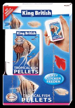 King British Tropical Fish Pellets Easy Clicker Feeder
