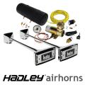 Hadley 20 Chrome Ambassador Rectangular Air Horn Kit