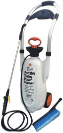 Portable Power Washer XXL, 12 Litre with Trolly & Wash Brush, No power or hose required!