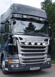 "Scania R Series ""Plough"" Style Grill Light Bar. 2009 Onwards. Pre Wired."