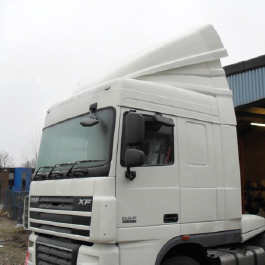 DAF Truck Aerodynamics, Roof Spoilers, Cab 3D Deflectors, high volume air management kits.