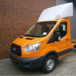 Ford Van Aerodynamics, Spoiler, Luton pod. Transit roof deflectors.
