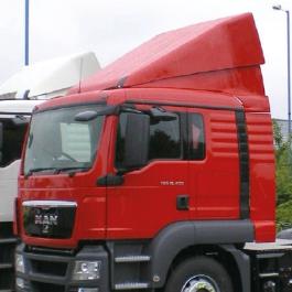 MAN TGA / TGS Aerodynamics. Range of Roof Spoilers, Cab Collars and Full Air Management Kits by Kuda UK