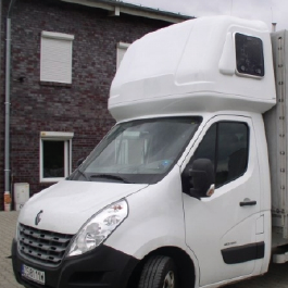 Renault Master Aerodynamics and Sleeper Pods. Spoilers and high quality spacious additional sleeping options by Kuda UK