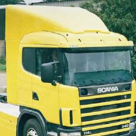 Scania 4 Series Aerodynamics, Cab Spoilers and 3D Deflectors by the Fuel Saving Guru's Kuda UK.