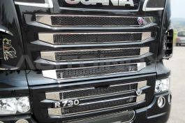 Stainless Steel Mirrored Mask Cover Kit Suitable For Scania New R Series Streamline - 9 Piece