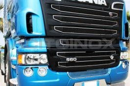 Stainless Steel Mirrored Front Mask Cover Kit Suitable For Scania New R Series Streamline - 9 Piece