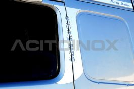 Stainless Steel Mirrored Door Lining Kit Suitable For Volvo FM - 4 Piece Set