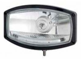 Black Oval Spotlight with LED DRL Strip. Similar to Hella Jumbo.