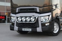 Renault T Range. Front Light Bar. Pre-Wired. 4 Lamp Fixings. With White LED's.