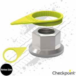 Checkpoint Yellow Wheel Nut Indicator - Various Sizes