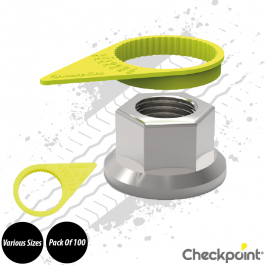 Checkpoint Yellow Wheel Nut Indicator - Various Sizes - Pack of 100