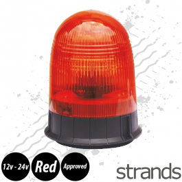 3 Bolt, Flush Fit Rotating Beacon, ECE R65 Approved