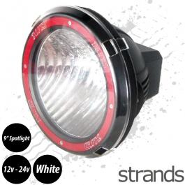 "CLEARANCE HID Xenon 9"" Spotlight, 12v/24v, Super Bright Ice White Light"