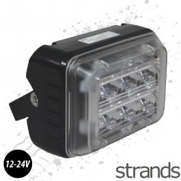 6 LED Rectangle Amber Strobe / Flasher, Bar Mounting Beacon 12/24v
