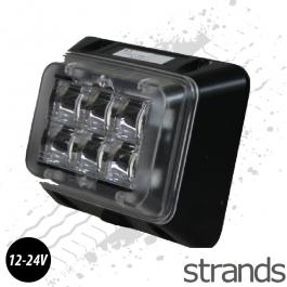 6 LED Rectangle Amber Strobe / Flasher, Surface Mounting Beacon 12/24v